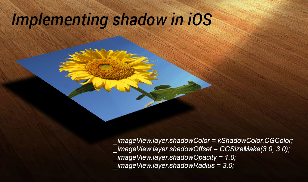 Implementing shadow in iOS - Innofied