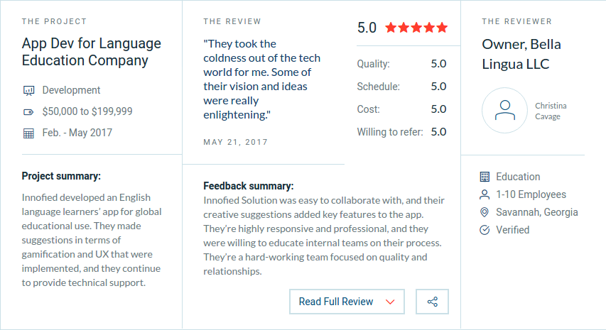 check clutch review before hiring a mobile app developer