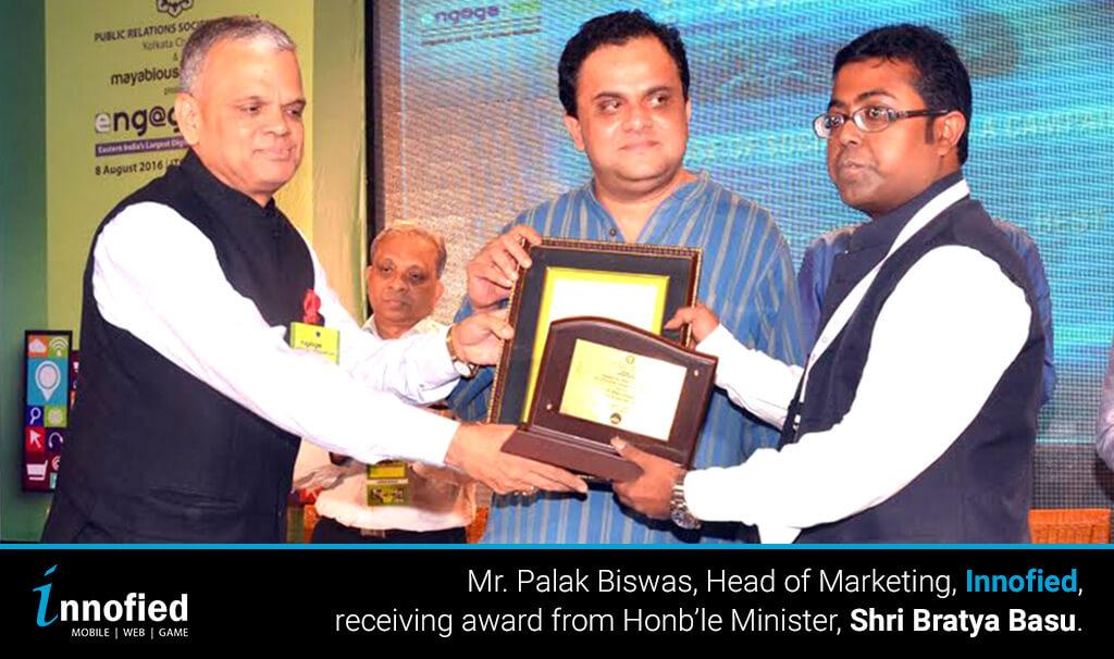 Bratya Basu givign us the Award of Excellence