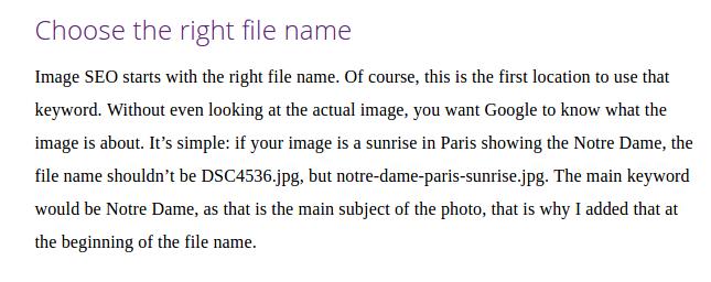 website development best practices for images