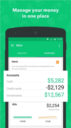 perosnal finance app development like mint