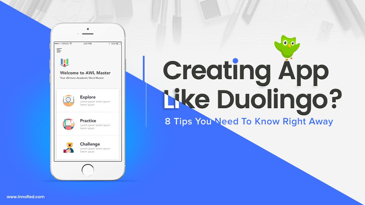 how to create an app like Duolingo