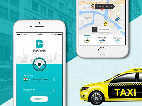 bidirde- taxi app on bid