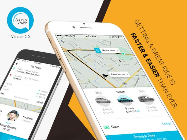 Innoride- taxi app solution