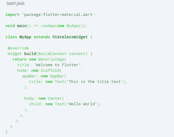 flutter code