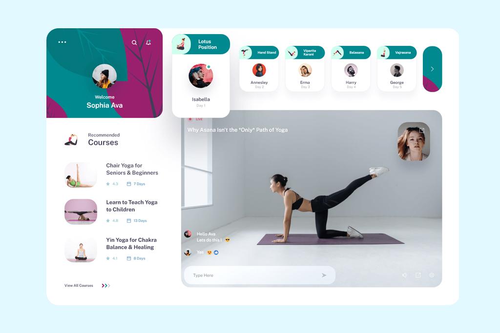 yoga app development
